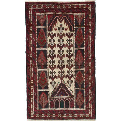 One-of-a-Kind Bilbo Casual Hand-Knotted Brown Area Rug