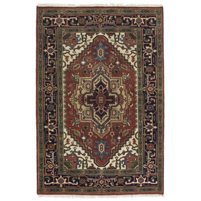 One-of-a-Kind Serapi Heritage Hand-Knotted Orange Area Rug