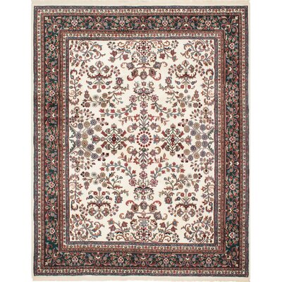 One-of-a-Kind Royal Mahal Hand-Knotted Ivory Area Rug