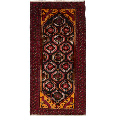 One-of-a-Kind Bilbo Hand-Knotted Oriental Red Area Rug