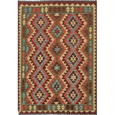 One-of-a-Kind Braintree Handmade Wool Red Area Rug