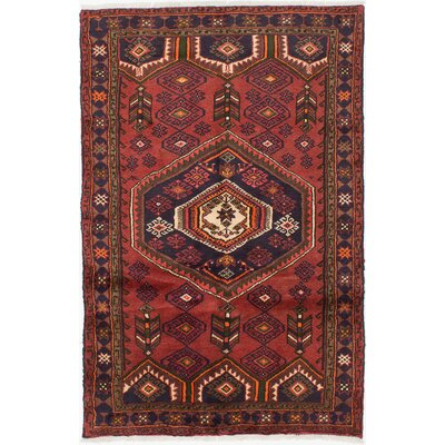 Persian Hand-Knotted Red Area Rug