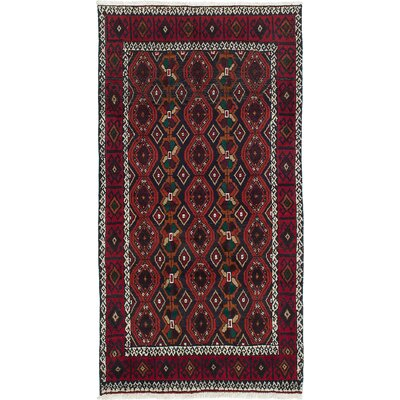 Bilbo Hand-Knotted Red Area Rug