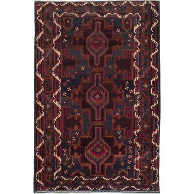 Rizbaft Hand-Knotted Brown Area Rug