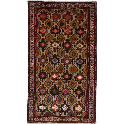 Bilbo Hand-Knotted Rectangle Brown Area Rug