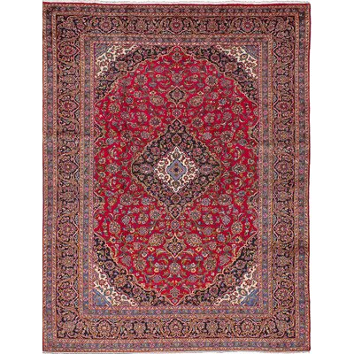 Kashan Persian Hand-Knotted Red Area Rug