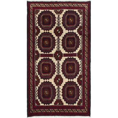 Bilbo Hand-Knotted Geometric Red Area Rug