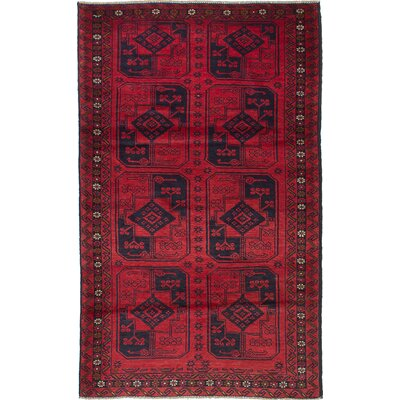 Rizbaft Hand-Knotted Red Area Rug