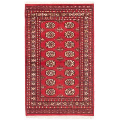 Onondaga Hand-Knotted Oriental Red Area Rug