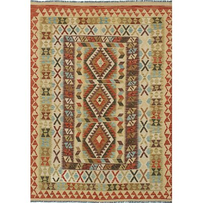 One-of-a-Kind Braintree Handmade Wool Ivory Area Rug