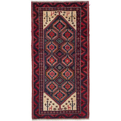 One-of-a-Kind Bilbo Hand-Knotted Brown Area Rug
