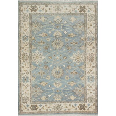 Royal Ushak Hand-Knotted Blue Area Rug
