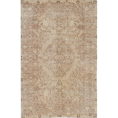 One-of-a-Kind Keisari Hand-Knotted Ivory Area Rug