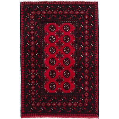 Bridges Hand-Knotted Pink Area Rug