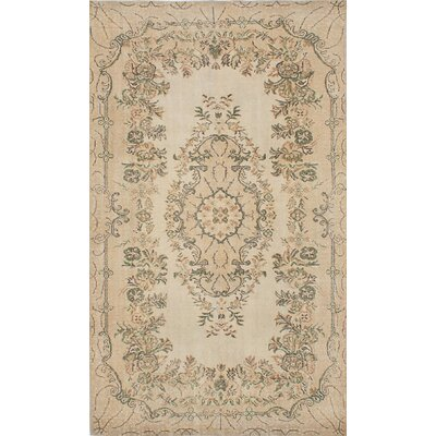 One-of-a-Kind Melis Hand-Knotted Ivory Area Rug