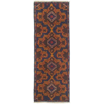 Baluch Hand-Knotted Blue Area Rug