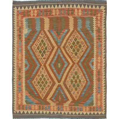 One-of-a-Kind Hereke Handmade Wool Brown Area Rug