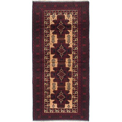 One-of-a-Kind Ingham Hand-Knotted Red and Ivory Area Rug