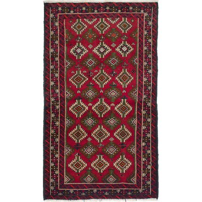 Bilbo Hand-Knotted Rectangle Red Area Rug