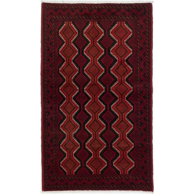 One-of-a-Kind Bilbo Casual Hand-Knotted Red Area Rug