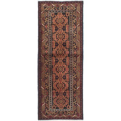 One-of-a-Kind Rizbaft Hand-Knotted Black Area Rug