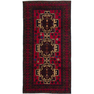 One-of-a-Kind Ingham Hand-Knotted Red Area Rug