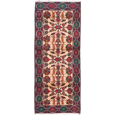 Rizbaft Hand-Knotted Ivory Area Rug