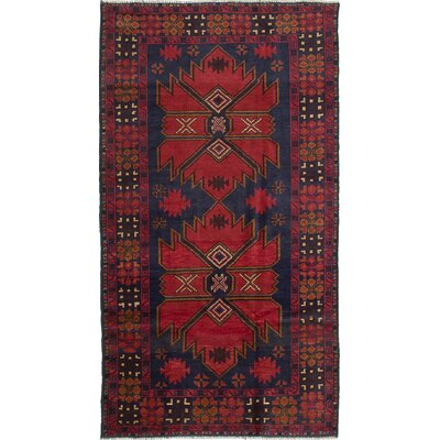 One-of-a-Kind Rizbaft Hand-Knotted Red Area Rug