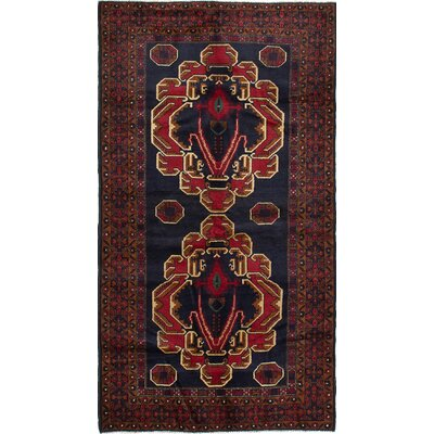 One-of-a-Kind Rizbaft Hand-Knotted Blue Area Rug
