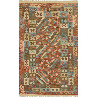 One-of-a-Kind Braintree Handmade Wool Brown Area Rug