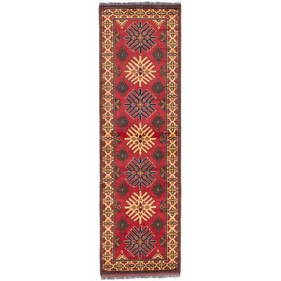 One-of-a-Kind Finest Kargahi Hand-Knotted Red Area Rug