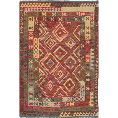 One-of-a-Kind Braintree Handmade Wool Dark Red Area Rug