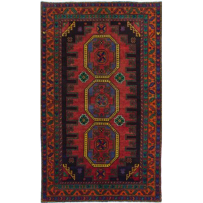 Antique Shiravan Hand-Knotted Dark Navy Blue/Red Area Rug