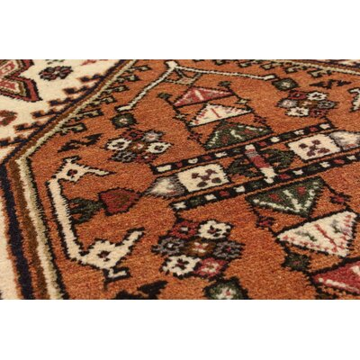 One-of-a-Kind Lin Hand-Knotted Cream Area Rug