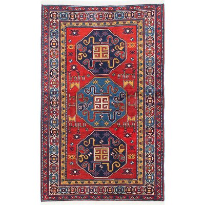 Antique Shiravan Hand-Knotted Red Area Rug
