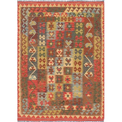 Istanbul Yama Hand-woven Red Area Rug