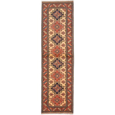 One-of-a-Kind Finest Kargahi Hand-Knotted Brown/Yellow Area Rug