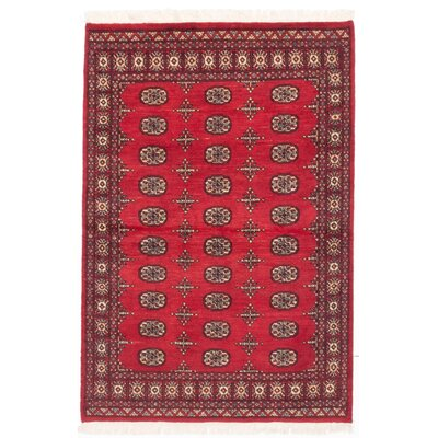 Finest Peshawar Bokhara Hand-Knotted Red Area Rug