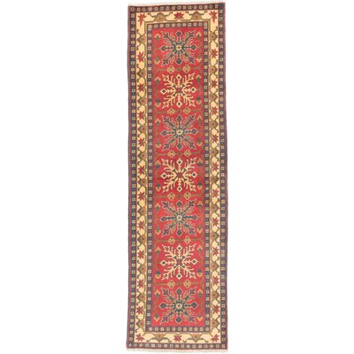 Finest Kargahi Hand-Knotted Dark Red/Light Gold Area Rug