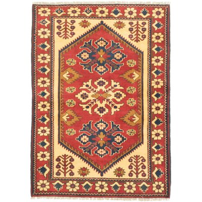 One-of-a-Kind Finest Kargahi Hand-Knotted Dark Orange/Light Yellow Area Rug