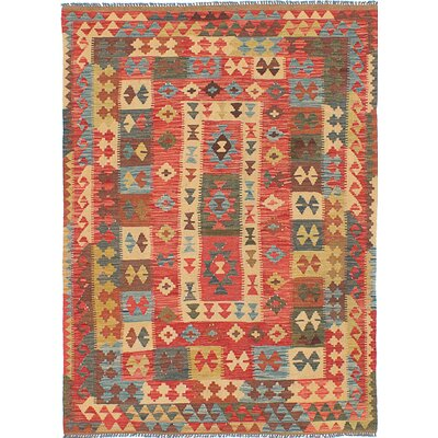One-of-a-Kind Istanbul Yama Handmade Wool Red Area Rug