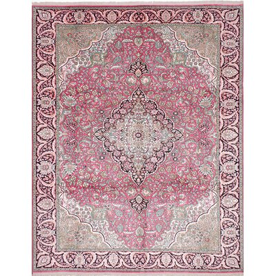 Kashmir Hand-Knotted Pink Area Rug