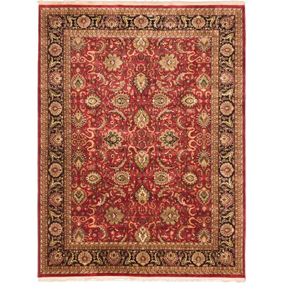 Jamshidpour Hand-Knotted Red Area Rug
