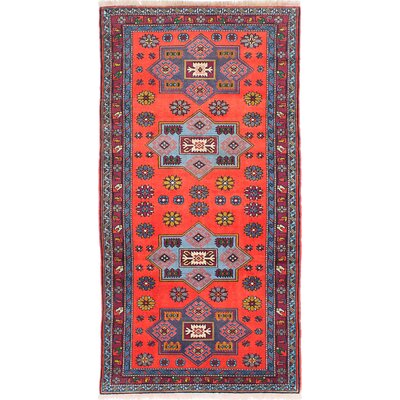 Ghafkazi Hand-Knotted Red Area Rug