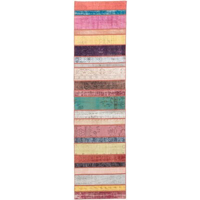Hand-Knotted Pink/Brown Area Rug
