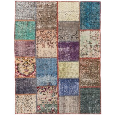 Hand-Knotted Cream/Gray Area Rug