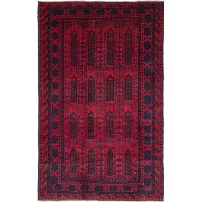 One-of-a-Kind Finest Ingham Hand-Knotted Red Area Rug