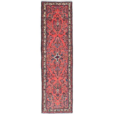 Lilihan Hand-Knotted Red Area Rug