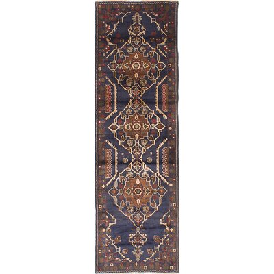 Finest Rizbaft Hand-Knotted Dark Navy Blue Area Rug