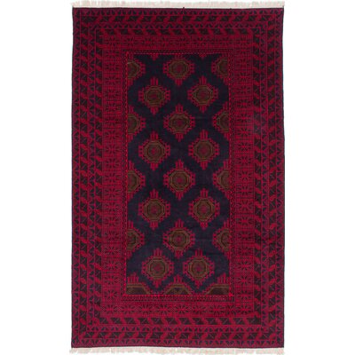 Finest Rizbaft Hand-Knotted Blue/Red Area Rug